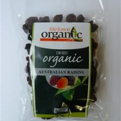 LIFEFORCE ORGANIC DRIED AUSTRALIAN RAISINS 1KG(ACO)