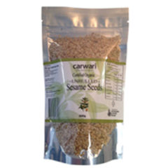 Organic carwari unhulled sesame seeds
